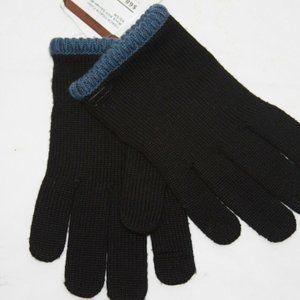 Coach Block Knit Texting gloves Black  XSmall